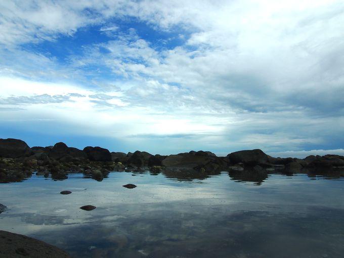 美しい海と「今井浜」の隠れた岩礁スポット