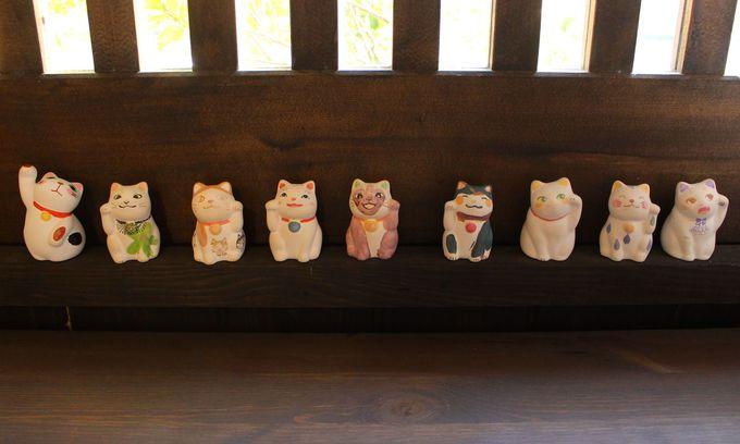 自分だけの招き猫が作れる癒しのお店