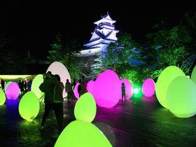 高知城に魔法がかかった!「チームラボ 高知城 光の祭」2019