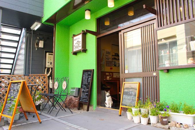 散歩好きが集う街中のカフェ