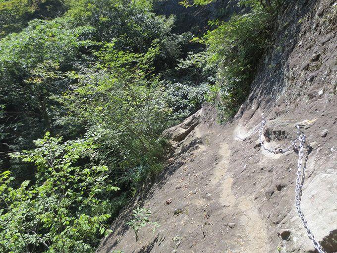 1、奇岩や断崖につけられたユニークな名前を楽しみながら進む