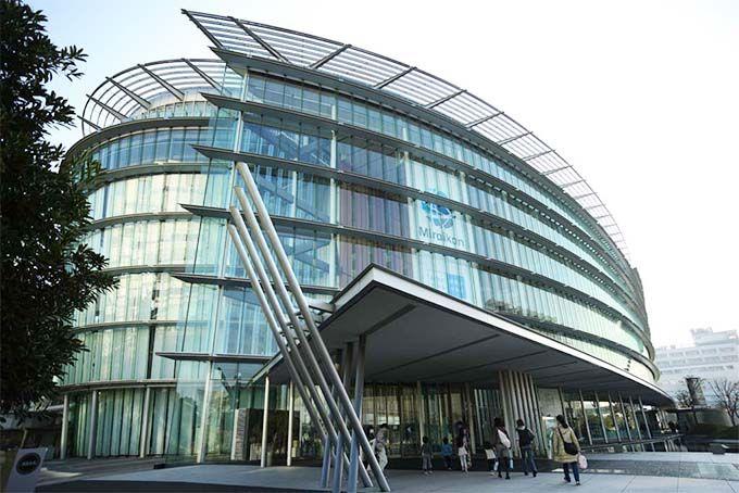 スタイリッシュな外観。日本科学未来館は気になるガラス張りの館