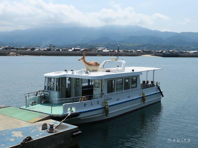 どうやって行けばいいの? まずは渡船場から鹿島に渡ります
