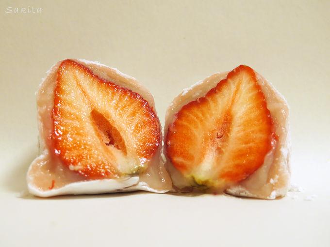 赤い角が可愛い!かねきちのいちご大福を大解剖