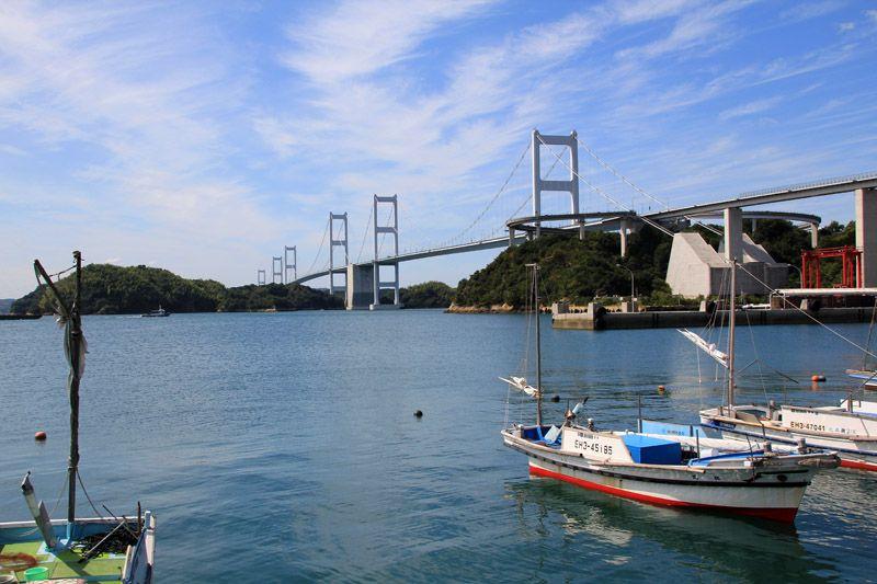 道の駅から来島海峡の風景が一望!