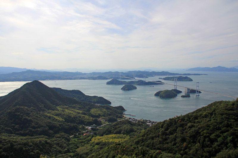 しまなみの代表的風景を一望、亀老山展望台