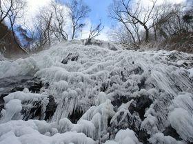あの文豪も愛でた!幻想的な氷の滝・愛媛「白猪の滝」