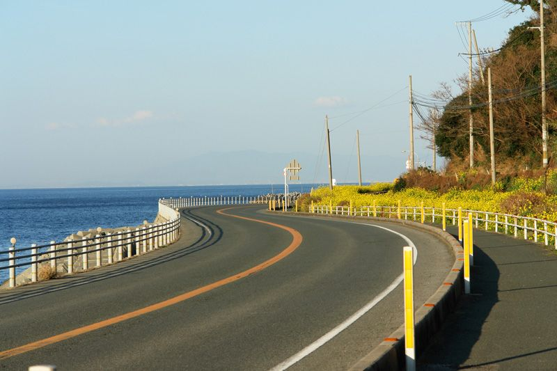 この絶景をドライブやサイクリングでも楽しみましょう!