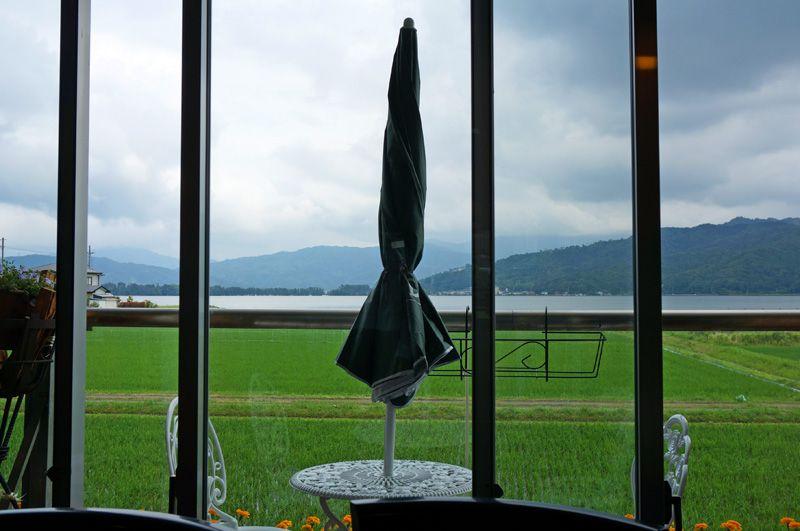 美味しい食事だけでなく、天橋立の眺めも人気のレストラン