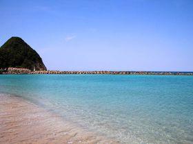 青い海と白い砂浜をガッツリ楽しもう!兵庫県竹野浜