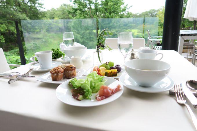 「ガーデンレストラン」で頂く、安らぎの朝食