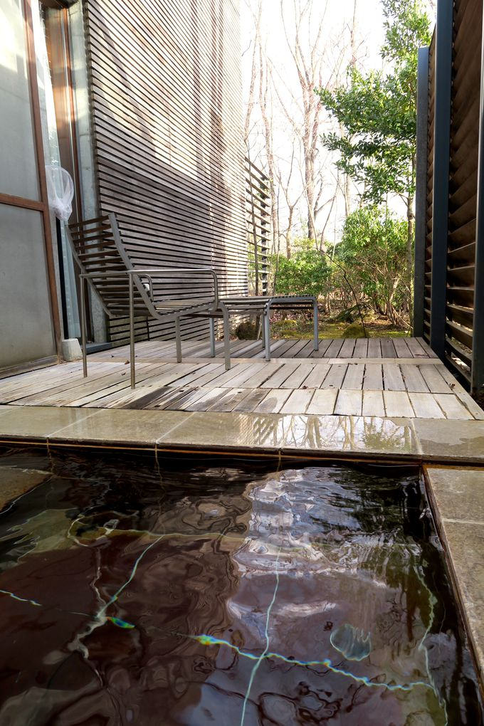 美味しい空気を吸いながら、ゆっくり浸かる温泉