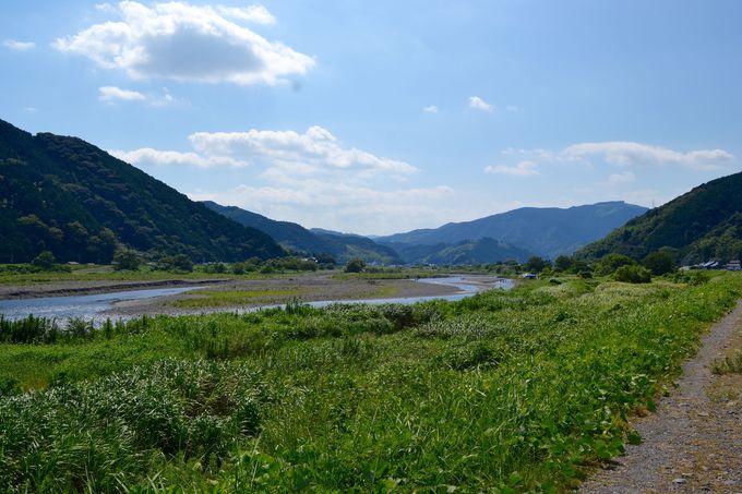 木枯森のさらに奥、藁科川の下流には、静岡の大自然が広がる