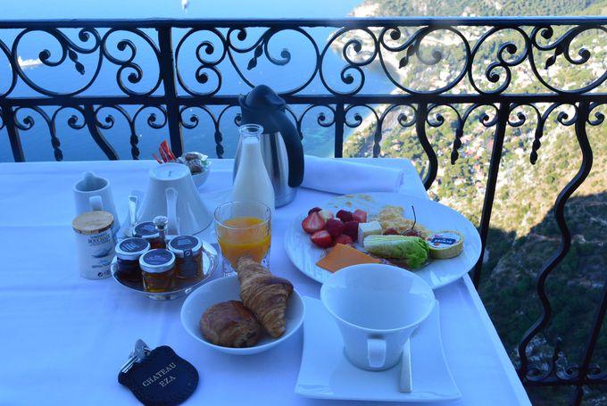 絶佳の朝食タイム