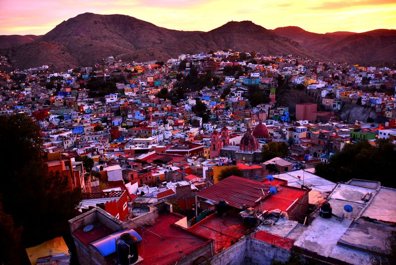 メキシコ・グアナフォトの可愛いホテル「カサズニガ」で絶景に酔いしれる