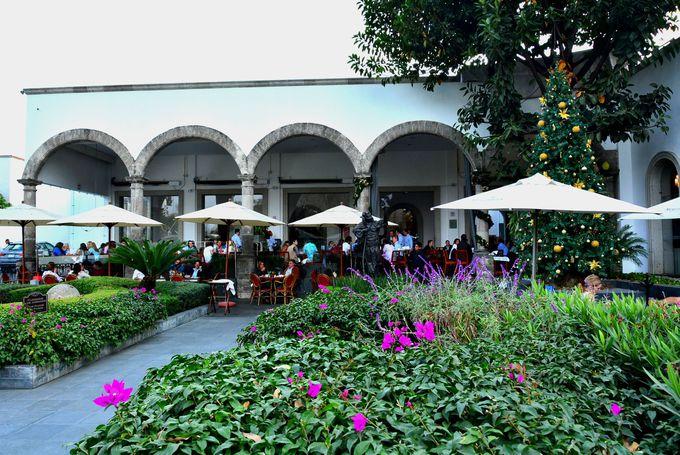 歩き疲れたらメキシカンセレブの集うお庭でひと休み