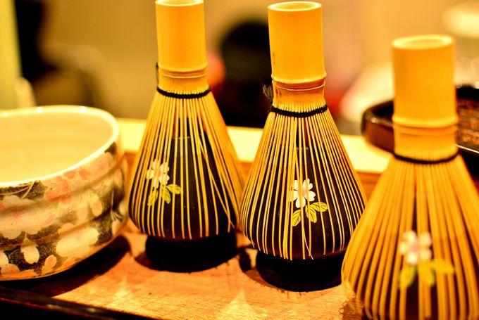 堅苦しい作法は抜きにして気軽にお茶文化も体験出来る!