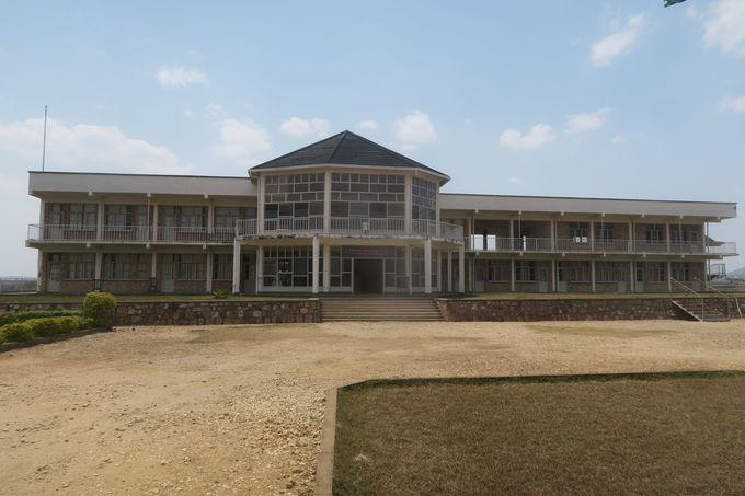 虐殺当時の様子が最もよく保存されている、ムランビ虐殺記念館。