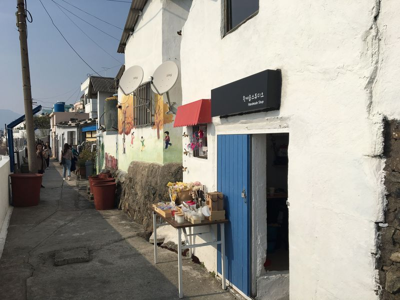 韓国のサントリーニ「ヒンヨウル文化村」