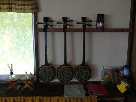 沖縄伝統の三線体験ができる「さんしん村」は宮古島のキビ畑に囲まれた一戸貸しの宿