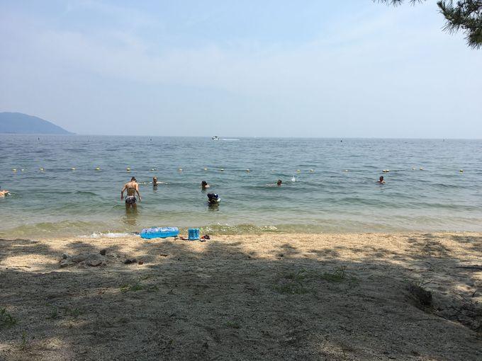 琵琶湖有数の人気ビーチ