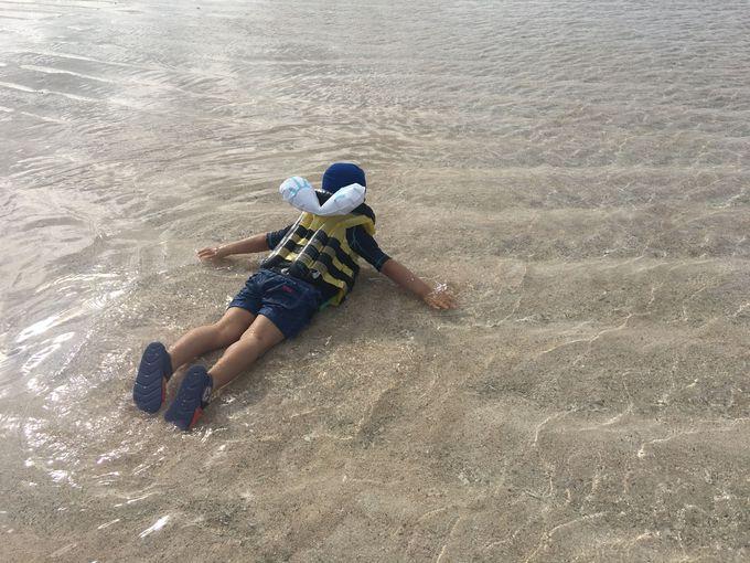 1、0歳児から上陸OK!幻の島「百合が浜」へ行く