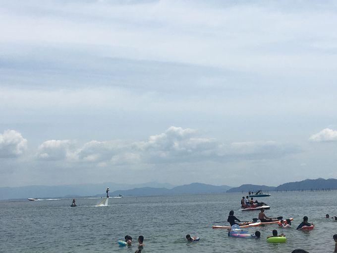 琵琶湖でイチバン遊べるビーチ「白ひげ浜」