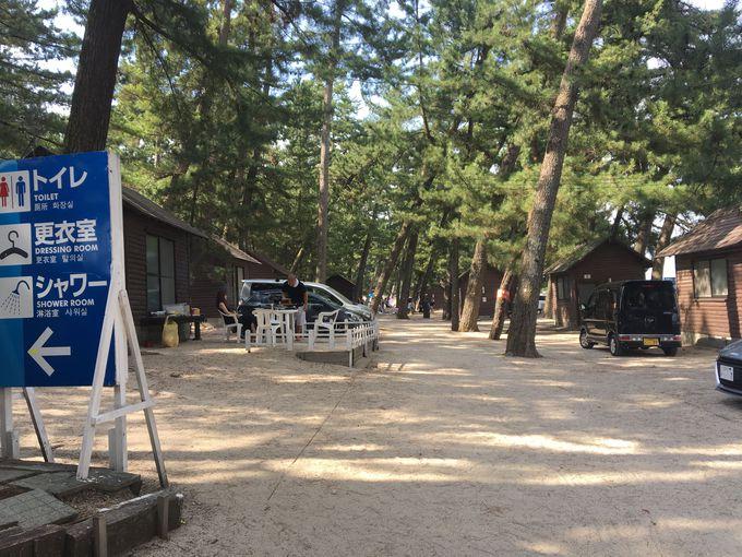 3.滋賀「白ひげ浜 水泳・キャンプ場」