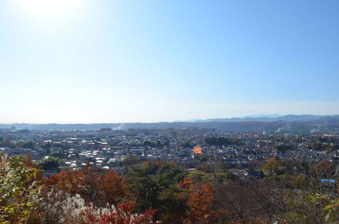 山の上に鎮座する韓国式建物