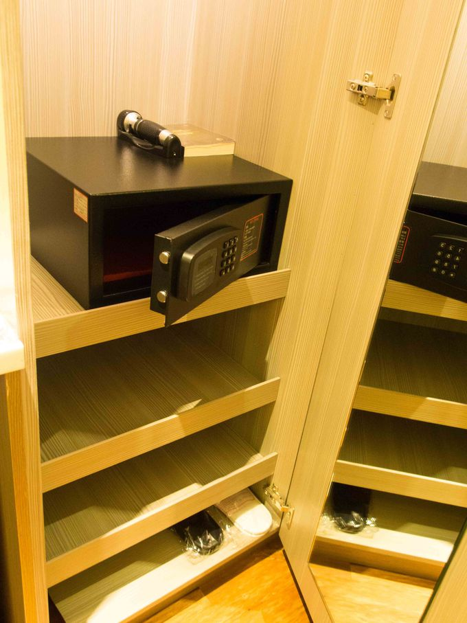 シンプルで洗練された客室は使い勝手もグッド!