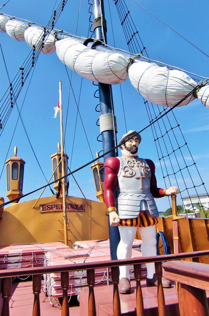 スペインの大型帆船をモチーフに作られた遊覧船「エスペランサ」