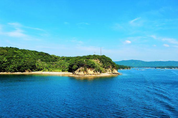 青い海に映える美しい島々が浮かぶ、あご湾