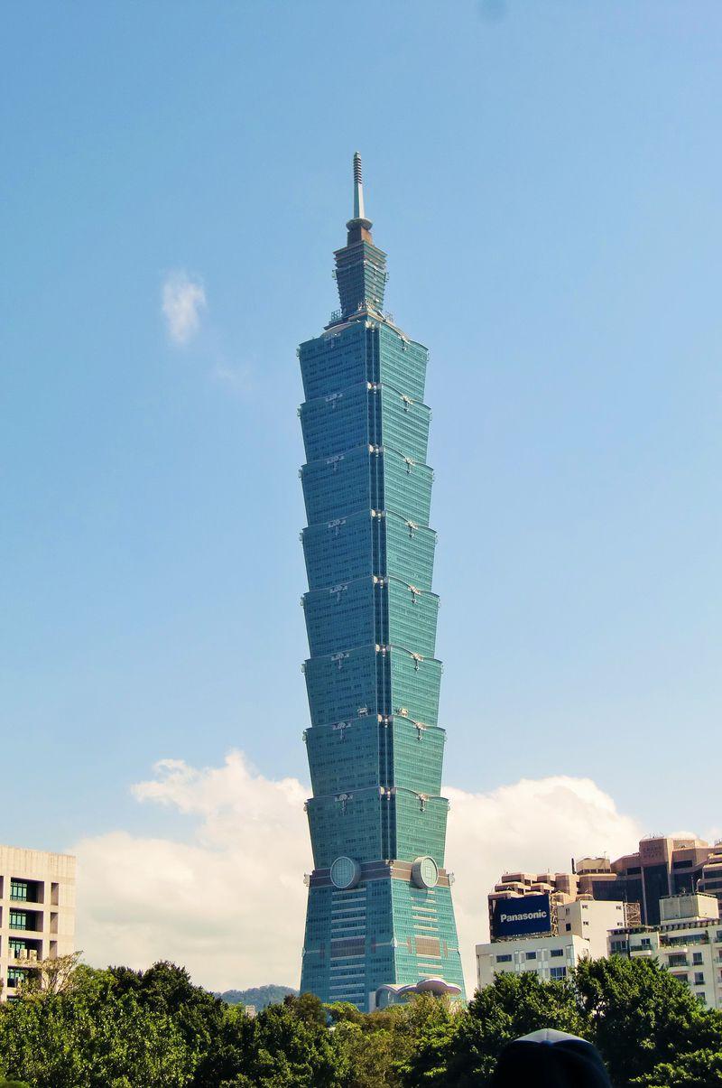 台北のスタイリッシュなシンボル「台北101」