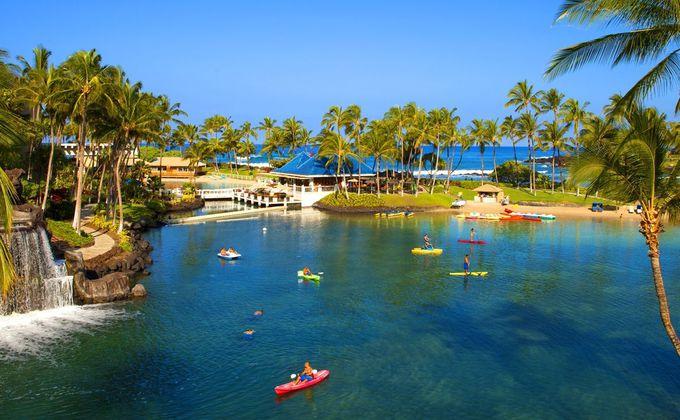 ハワイ島の大自然に触れる!ワイコロアの中心を流れるメインラグーン