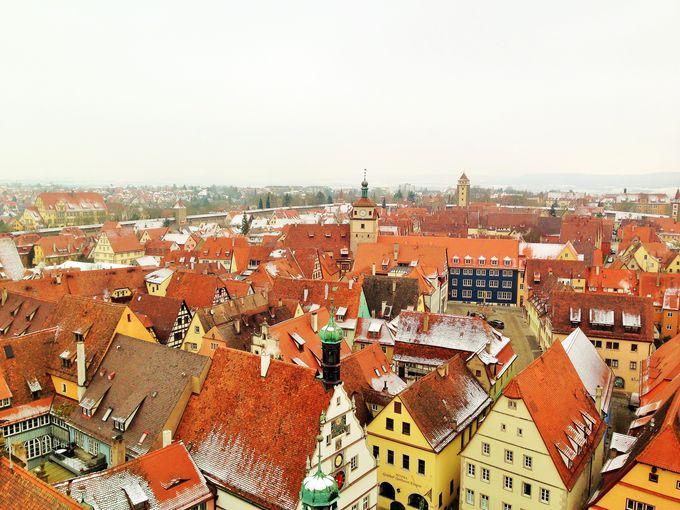 中世都市ローテンブルグを一望できる鐘楼