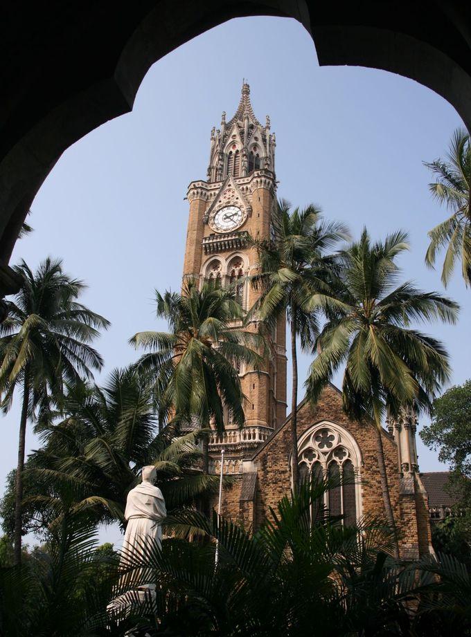 インドのビックベン!ムンバイ大学の時計台