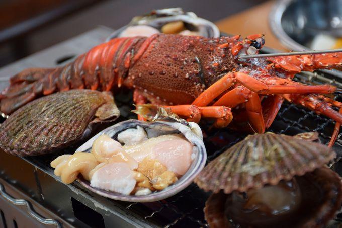 海上レストラン「さざ波」で残酷焼きに挑戦!