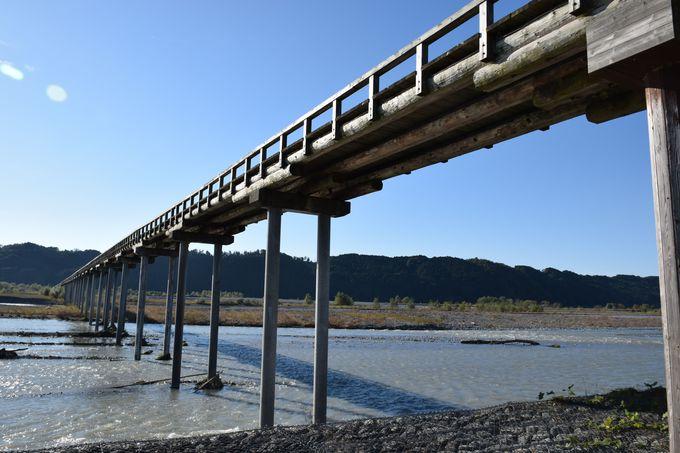 世界で一番長い木造の橋「蓬莱橋」