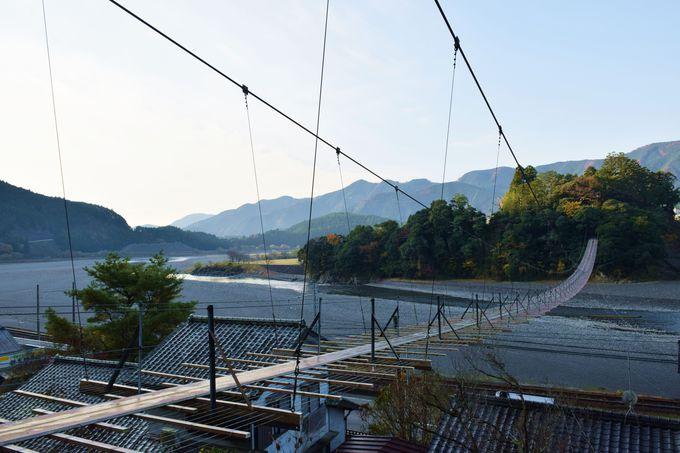 大井川で最長の吊り橋「塩郷の吊り橋」