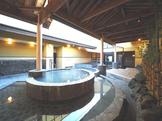 温泉だけじゃない、露天風呂、サウナも注目ポイント