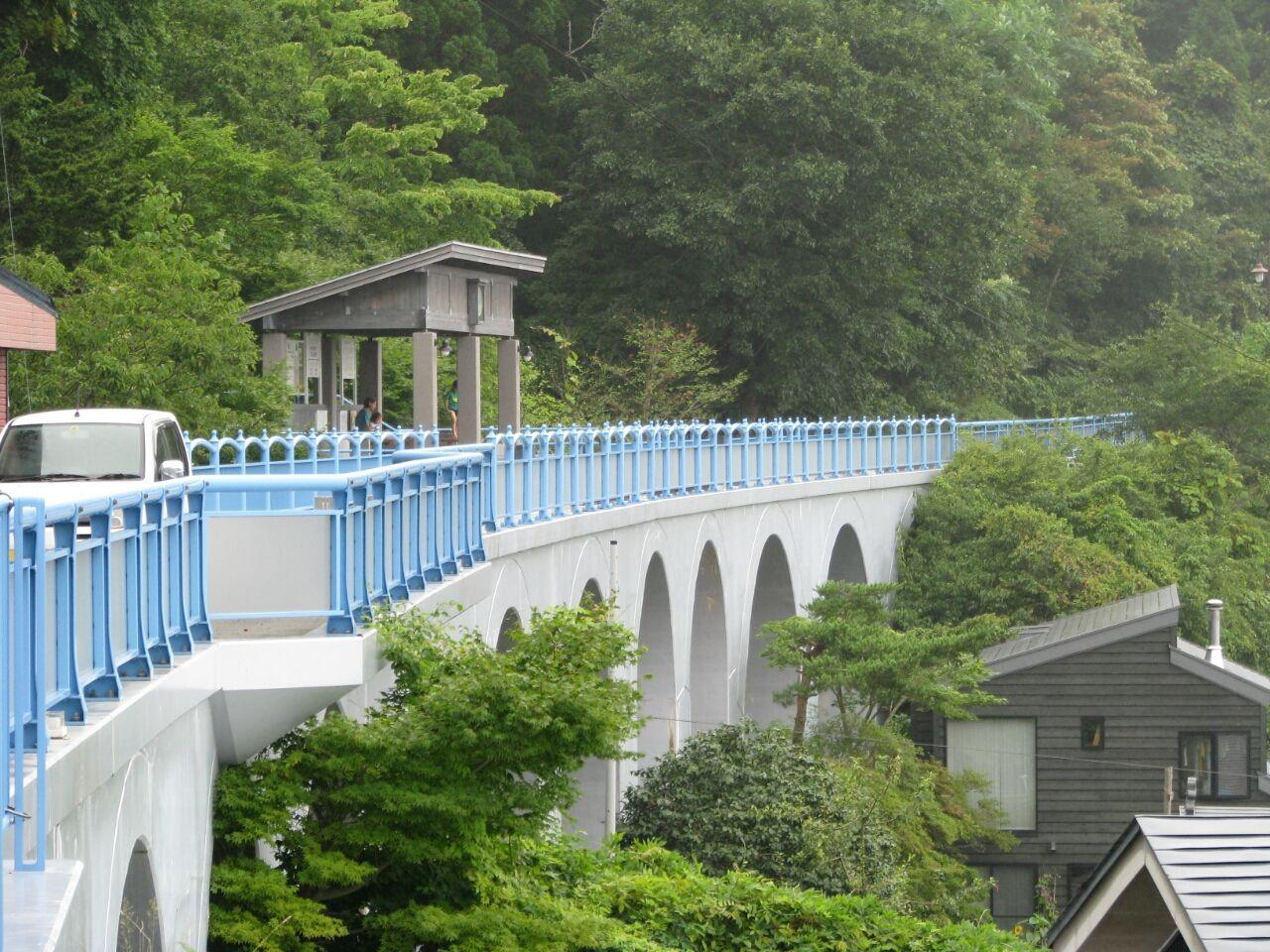 本州最果ての温泉街『下風呂』。隠れた名湯と幻の鉄道・大間線のアーチ橋