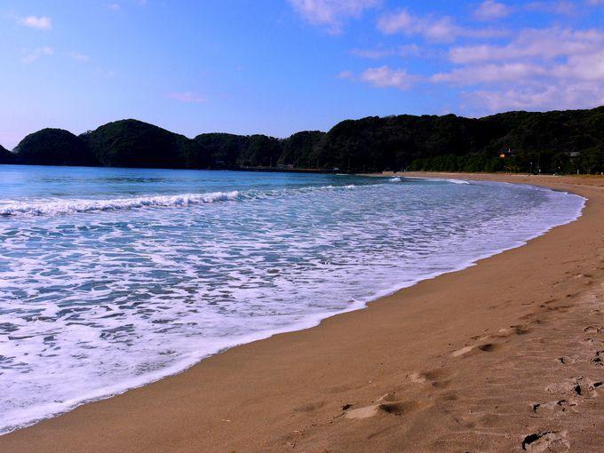 早起きしてのんびり散歩したい「弓ヶ浜」