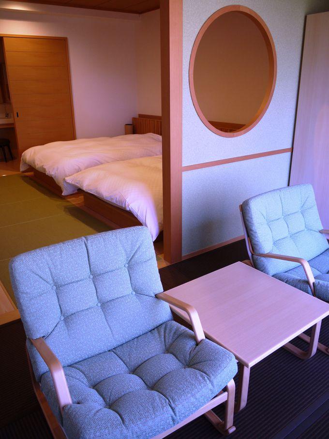 リニューアルしたばかりの和洋室は、景色も居心地も高得点!