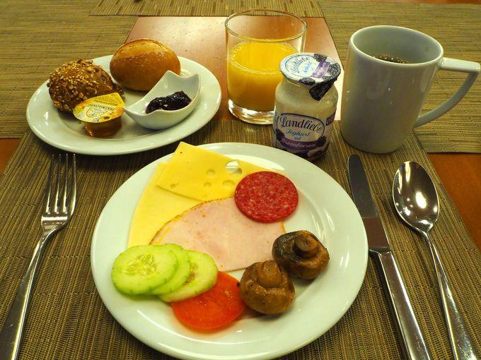 朝食ブッフェで、ドイツの朝を体験