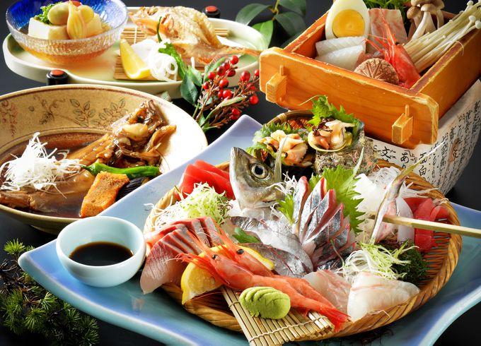 はたはた、のどぐろ、越前ガニ…、日本海の幸が勢ぞろい。