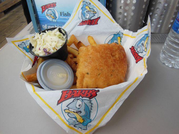 フィッシュ&チップス、シーフードが美味しい!