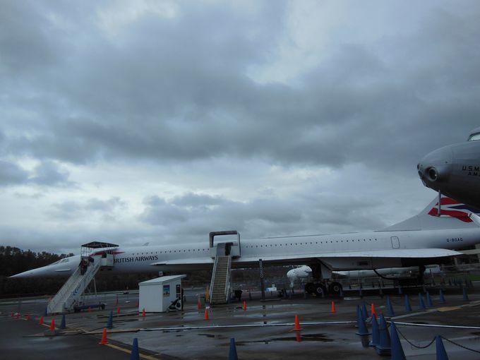 迫力満点、ボーイングフィールドを望む航空博物館