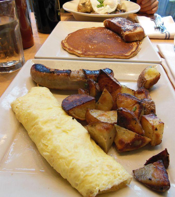 さすがに豪快、アメリカン朝食