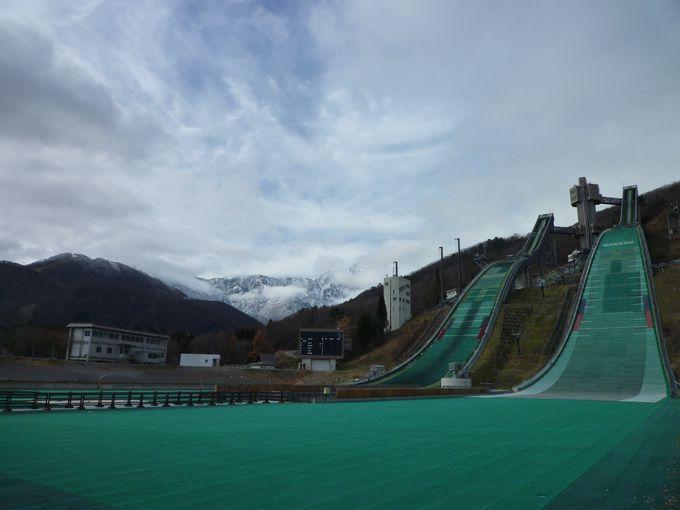 長野オリンピックの舞台となった 白馬ジャンプ競技場