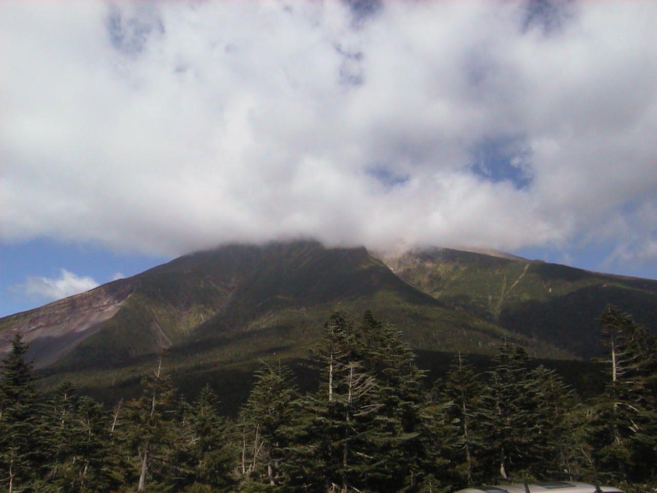 御嶽山7合目 田の原駐車場から見る御嶽山